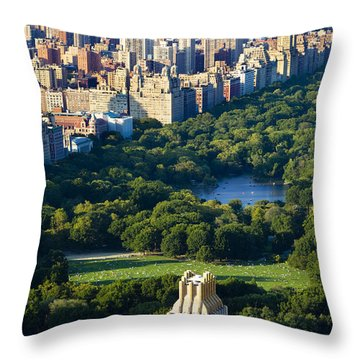 Central Park Throw Pillow by Brian Jannsen