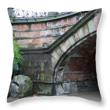 Central Park Bridge Throw Pillow by Chris Thomas