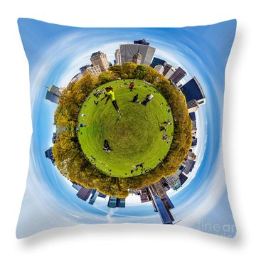Central Park Circagraph  Throw Pillow