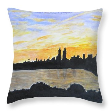 Central Park In Newyork Throw Pillow