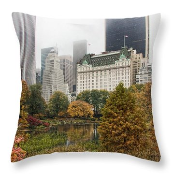 Central Park Throw Pillow by June Marie Sobrito