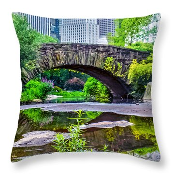 Central Park Nature Oasis Throw Pillow