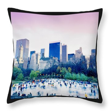 New York In Motion Throw Pillow by Shaun Higson