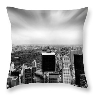 Central Park Perspective Throw Pillow