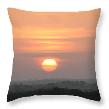 Throw Pillow featuring the photograph Central Texas Sunrise by John Glass