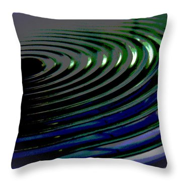 Centrifugal Abstract Throw Pillow
