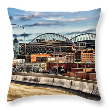 Century Link Field Seattle Washington Throw Pillow