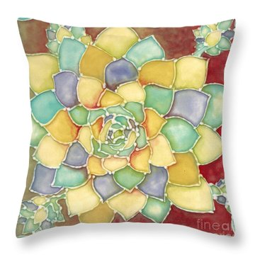 Ceramic Herb Throw Pillow