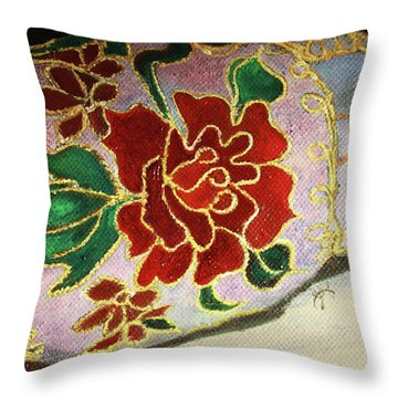 Ceramic Shoe Throw Pillow by Jane Autry