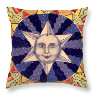 Ceramic Star Throw Pillow