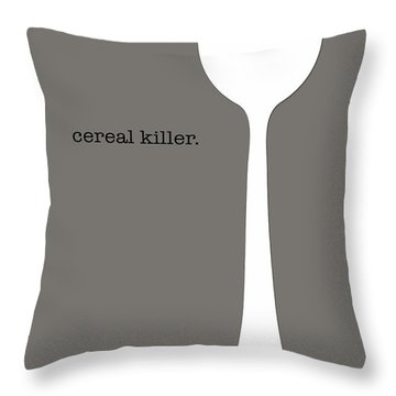 Throw Pillow featuring the digital art Cereal Killer by Nancy Ingersoll