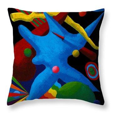 Cerebral Cessation Throw Pillow by Vicki Maheu