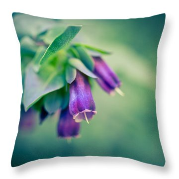Cerinthe Abstract Throw Pillow by Priya Ghose