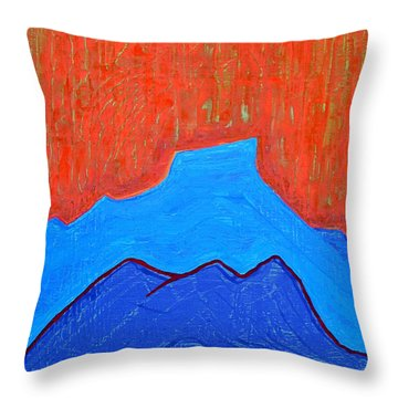 Cerro Pedernal Original Painting Sold Throw Pillow