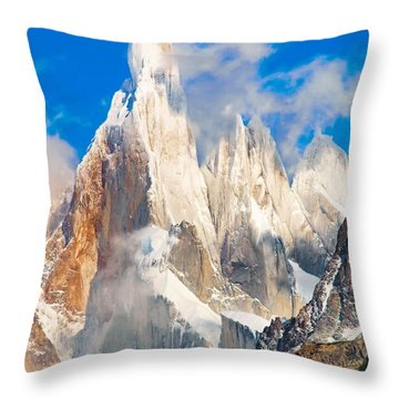 Cerro Torre Throw Pillow by JR Photography