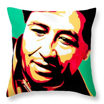 Cesar Chavez Throw Pillow