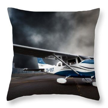 Cessna Ground Throw Pillow