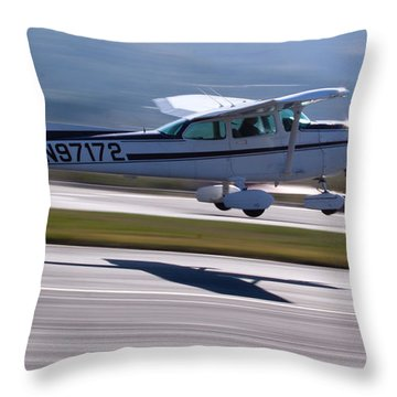Cessna Takeoff Throw Pillow