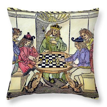 Cessolis Chess, 1493-94 Throw Pillow by Granger