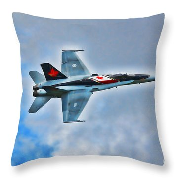 Throw Pillow featuring the photograph Cf18 Hornet  by Cathy  Beharriell