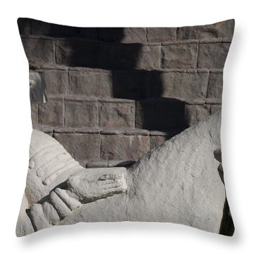 Throw Pillow featuring the photograph Chac Mool by Ivete Basso Photography