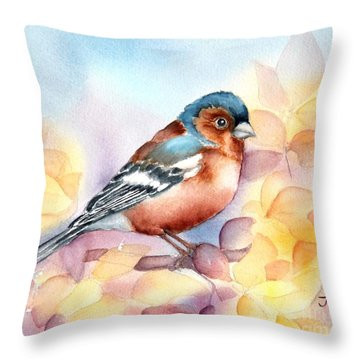 Chaffinch 3 Throw Pillow