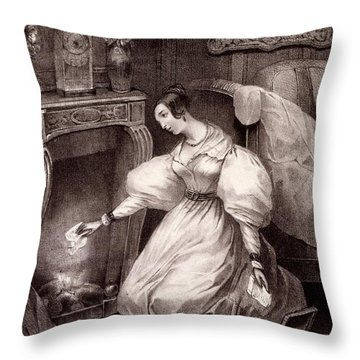 Chagrin Damour, Early C19th Throw Pillow