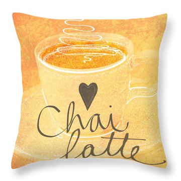 Chai Latte Love Throw Pillow