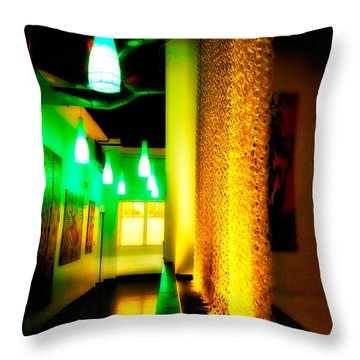 Chain Lighting Throw Pillow by Melinda Ledsome