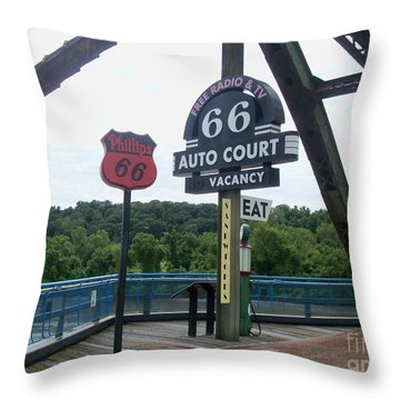 Throw Pillow featuring the photograph Chain Of Rocks Bridge by Kelly Awad