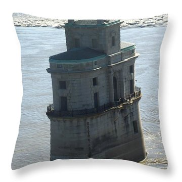 Throw Pillow featuring the photograph Chain Of Rocks by Kelly Awad