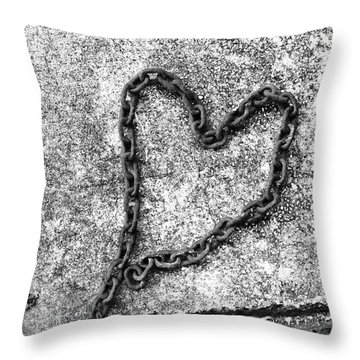 Chained Heart Throw Pillow