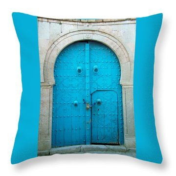 Chained Mini Door Throw Pillow