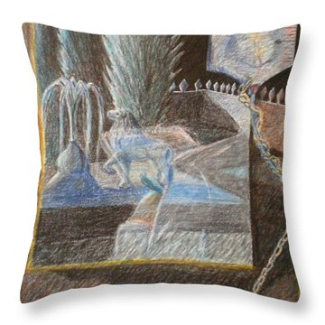 Chained To Life Throw Pillow