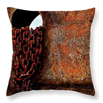 Chained To The Past And Rusted Throw Pillow