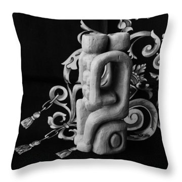 Chained Together Throw Pillow by Barbara St Jean