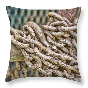 Chained Up Throw Pillow by Heather Applegate