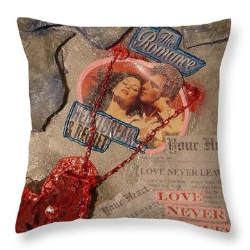 Throw Pillow featuring the painting Chains Of Love by Lisa Piper