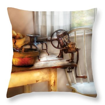 Chair - Kitchen Preparations  Throw Pillow by Mike Savad