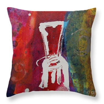 Throw Pillow featuring the painting Chair by Robin Maria Pedrero