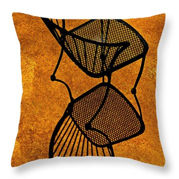 Chair Saturation Throw Pillow