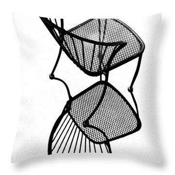 Chair Silhouette Throw Pillow