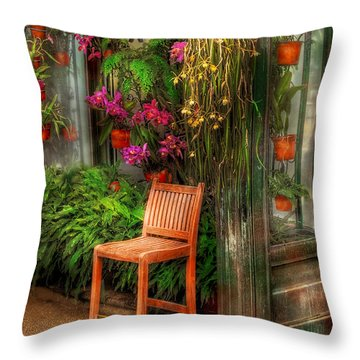 Chair - The Chair Throw Pillow by Mike Savad