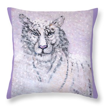 Chairman Of The Board Throw Pillow by Phyllis Kaltenbach