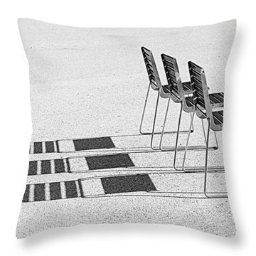 Chairs In The Sun Throw Pillow