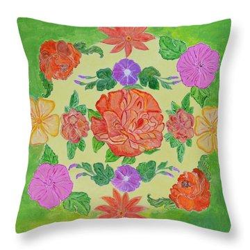 Chaitra Mandala Throw Pillow by Sonali Gangane