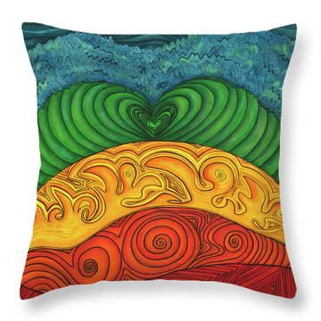 Throw Pillow featuring the painting Chakra Ascension by Deborha Kerr
