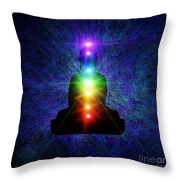 Chakra Buddha Throw Pillow