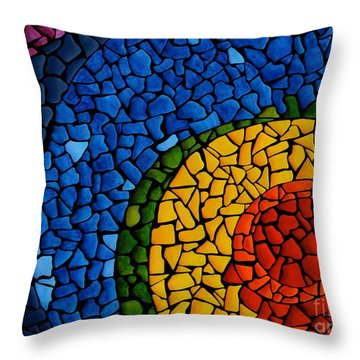 Chakra Swirl Throw Pillow by Deborha Kerr