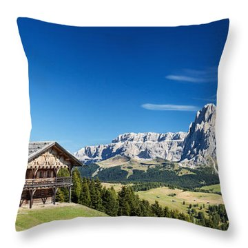Chalet In South Tyrol Throw Pillow by Carsten Reisinger